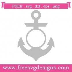 Anchor Plain Monogram Frame SVG
