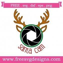 Reindeer Santa Cam Christmas SVG