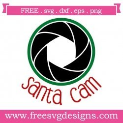 Santa Cam Christmas SVG