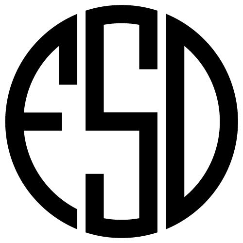View Monogram Letters Svg Circular DXF
