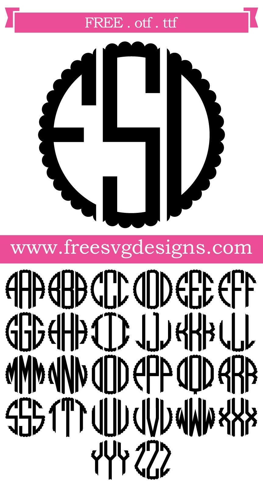 Download Monogram SVG cut file - FREE design downloads for your ...