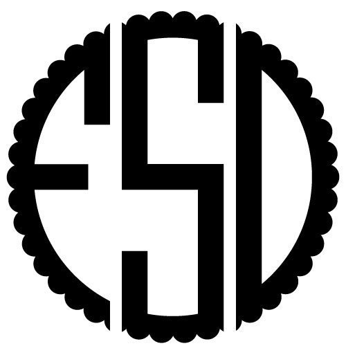Monogram SVG cut file - FREE design downloads for your cutting projects!