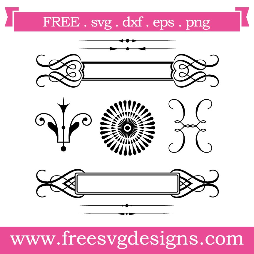 Free svg cut file Vintage Elements. This FREE download includes SVG, EPS, PNG and DXF files for personal cutting projects. Free vector / free svg monogram / free svg images for cricut