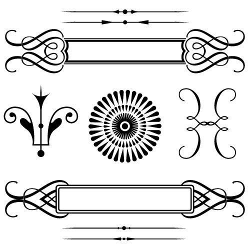 Vintage Elements SVG