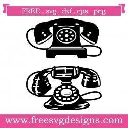Vintage Phones SVG
