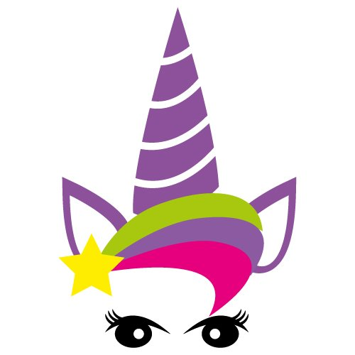Free svg cut file - Unicorn with flower crown. This FREE download includes SVG, EPS, PNG and DXF files for personal cutting projects. Free vector / free svg monogram / free svg images for cricut