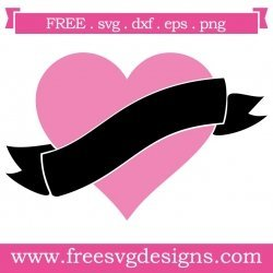 Love Heart Banner SVG