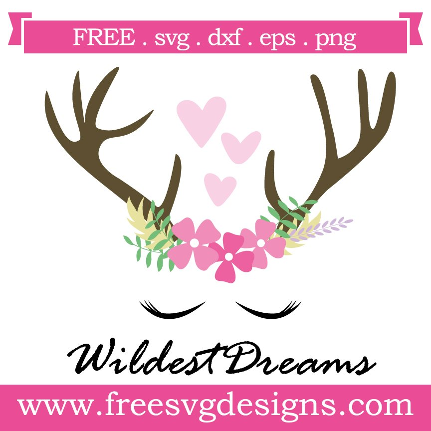 Free svg cut file flower crown. This FREE download includes SVG, EPS, PNG and DXF files for personal cutting projects. Free vector / free svg monogram / free svg images for cricut / antlers / wildest dreams