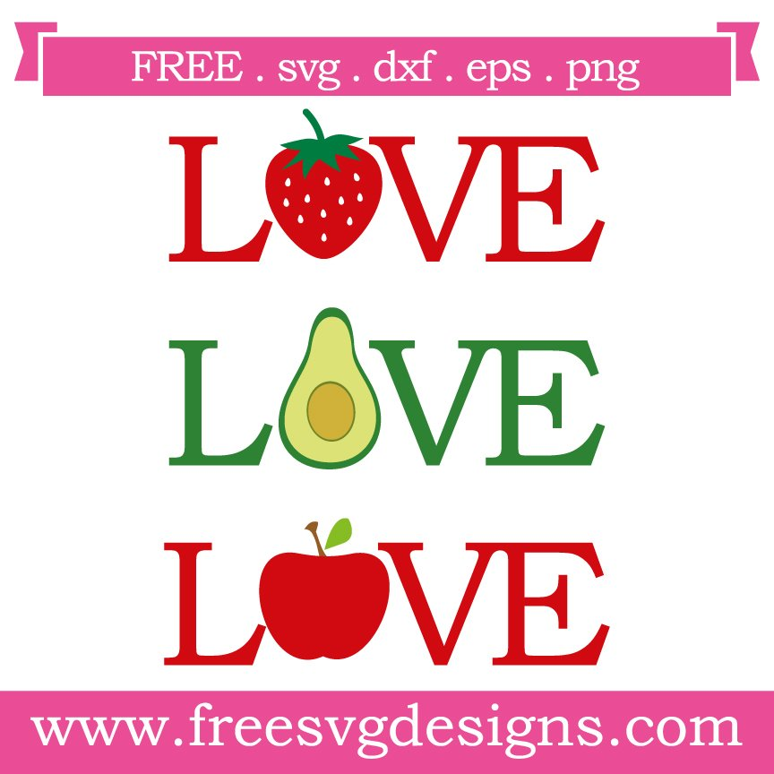 Free svg cut file love fruit. This FREE download includes SVG, EPS, PNG and DXF files for personal cutting projects. Free vector / free svg monogram / free svg images for cricut