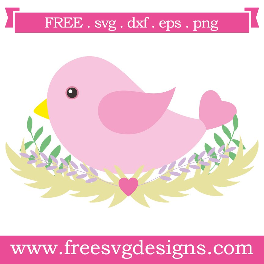Free svg cut files bird in Nest. This FREE download includes SVG, EPS, PNG and DXF files for personal cutting projects. Free vector / free svg monogram / free svg images for cricut