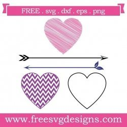 Love Heart Arrows Elements SVG