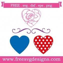 Love Heart Elements SVG