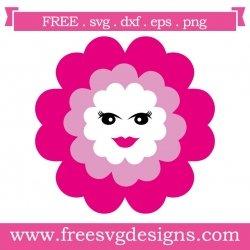 Flower Face SVG