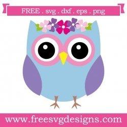 Owl Flowers SVG