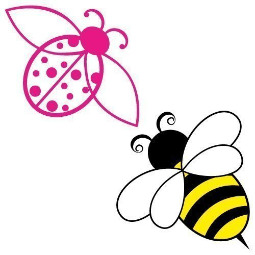 Free svg cut files bee and ladybird. This FREE download includes SVG, EPS, PNG and DXF files for personal cutting projects. Free vector / free svg monogram / free svg images for cricut