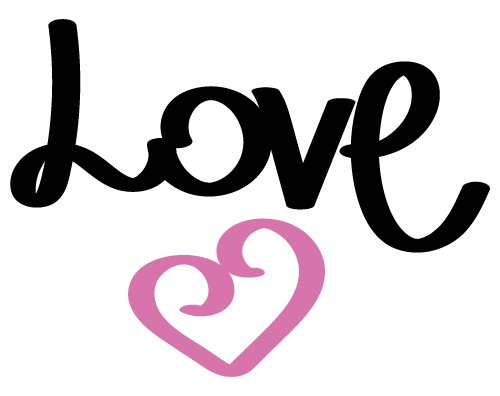 Download Love SVG cut file - FREE design downloads for your cutting ...