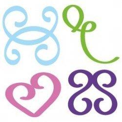 Hand Drawn Doodle Flourish Swirls SVG