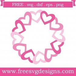 Love Heart Monogram Frame SVG