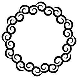 Swirl Monogram Frame SVG