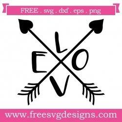 Love Monogram Arrows SVG