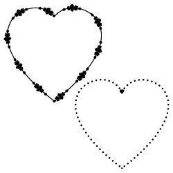 Love Heart Monogram Frames SVG