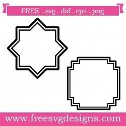 Art Deco Frames SVG