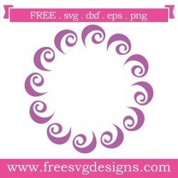 Hand Drawn Swirl Monogram Frame SVG