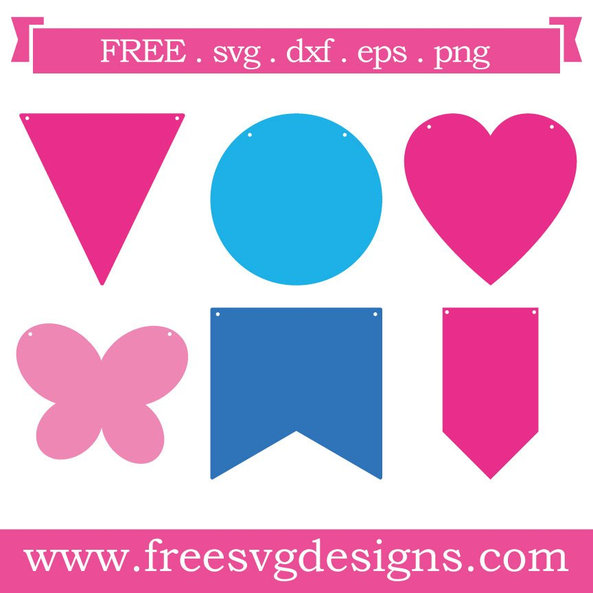 Free svg cut file bunting template. FREE downloads includes SVG, EPS, PNG and DXF files for personal cutting projects. Free vector / printable / free svg images for cricut