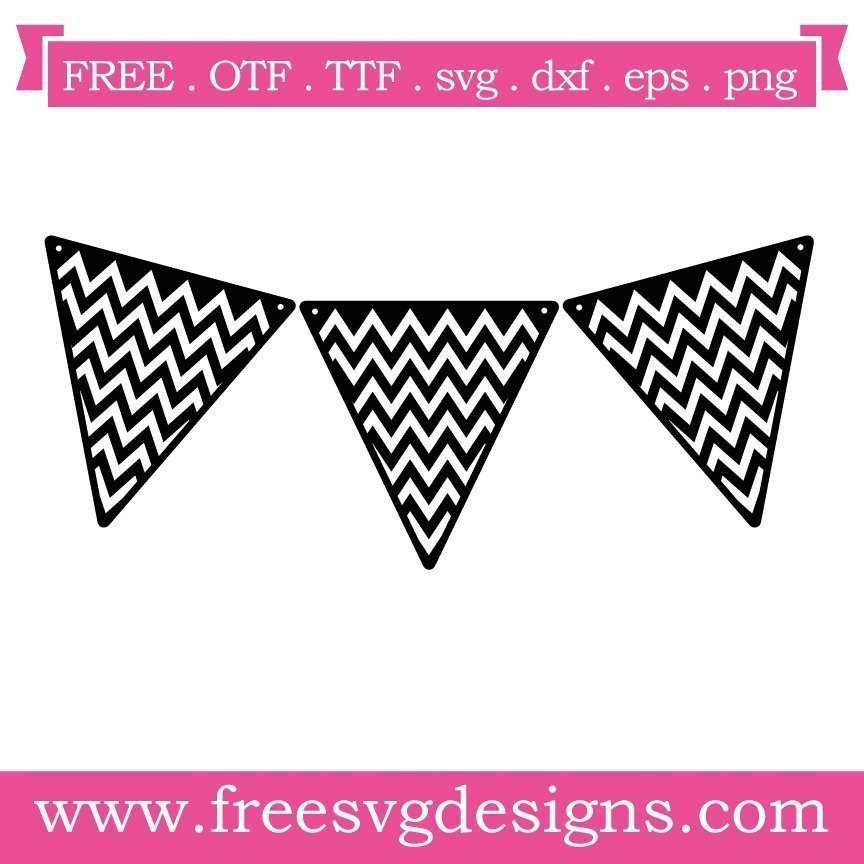 Free svg cut file chevron bunting. FREE downloads includes SVG, EPS, PNG and DXF files for personal cutting projects. Free vector / printable / free svg images for cricut