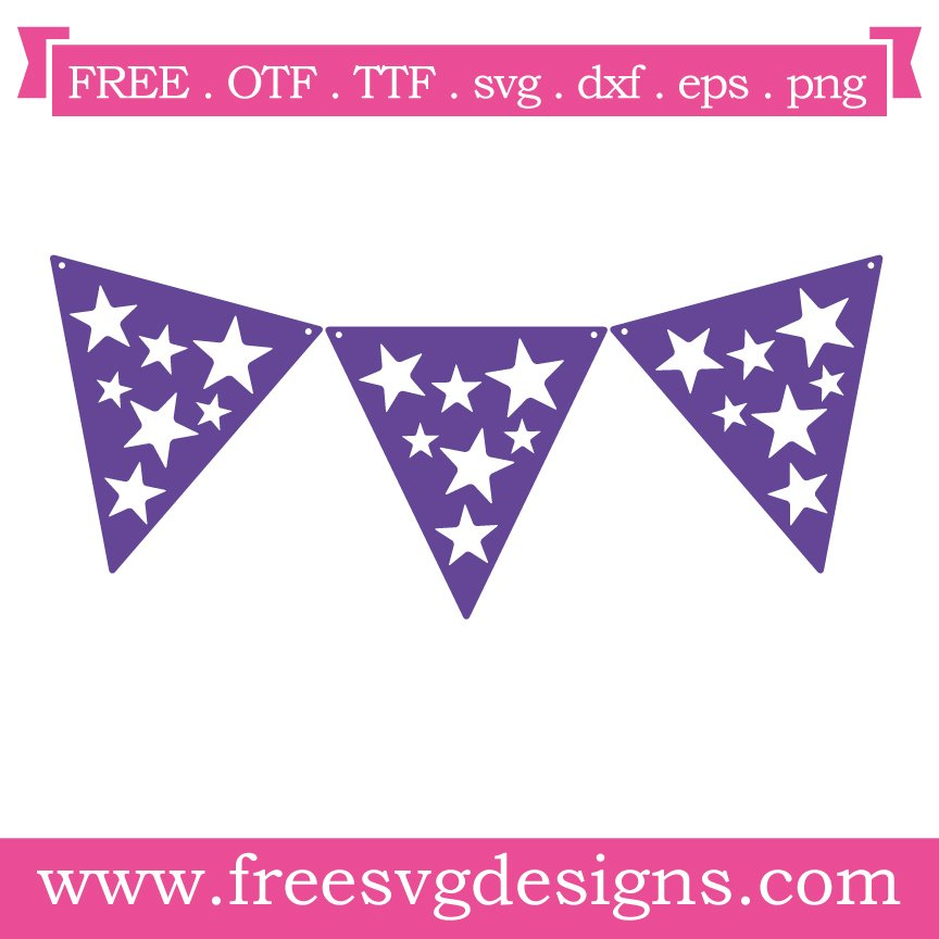 Free svg cut file stars bunting. FREE downloads includes SVG, EPS, PNG and DXF files for personal cutting projects. Free vector / printable / free svg images for cricut