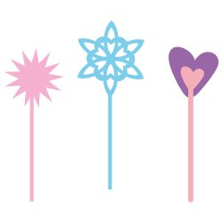 Free svg cut files Fairy Wands. FREE downloads includes SVG, EPS, PNG and DXF files for personal cutting projects. Free vector / printable / free svg images for cricut