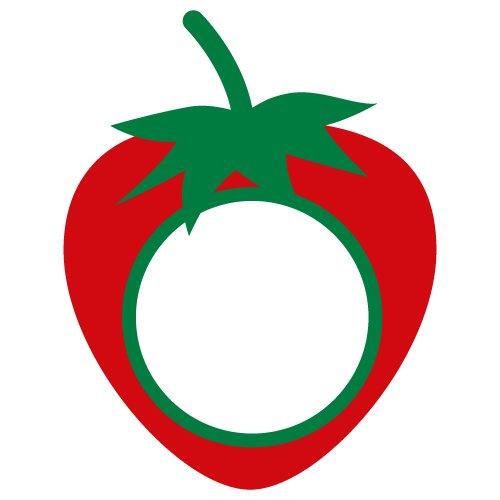 Strawberry Monogram Frame 404