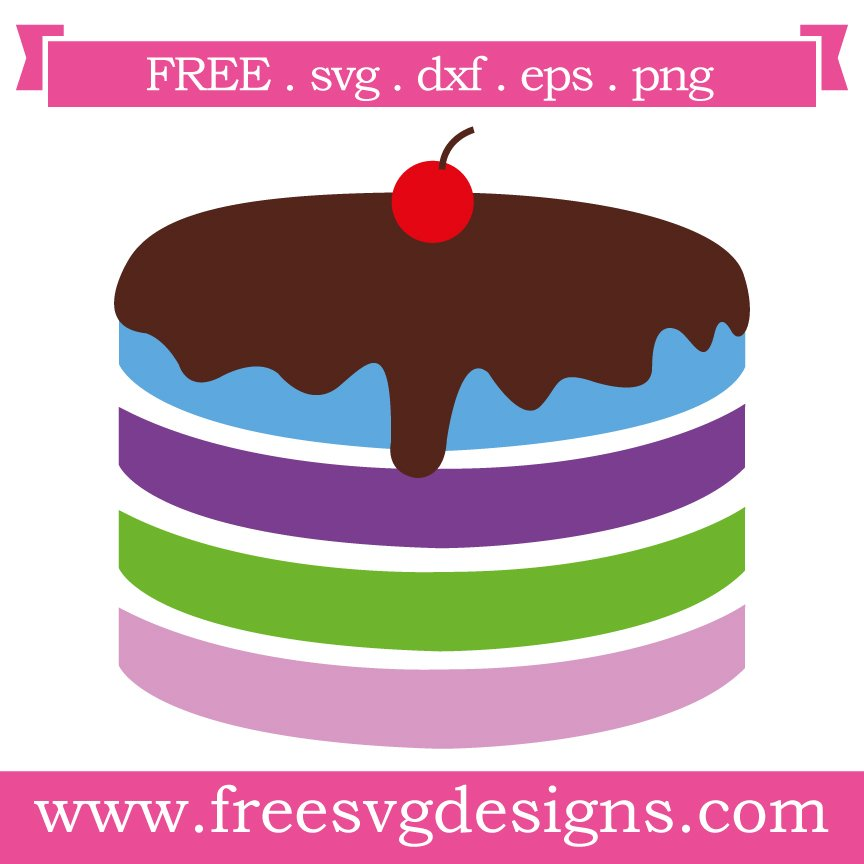 Free Cake cut file at www.freesvgdesigns.com. FREE downloads includes SVG, EPS, PNG and DXF files for personal cutting projects. Free vector / printable / free svg images for cricut
