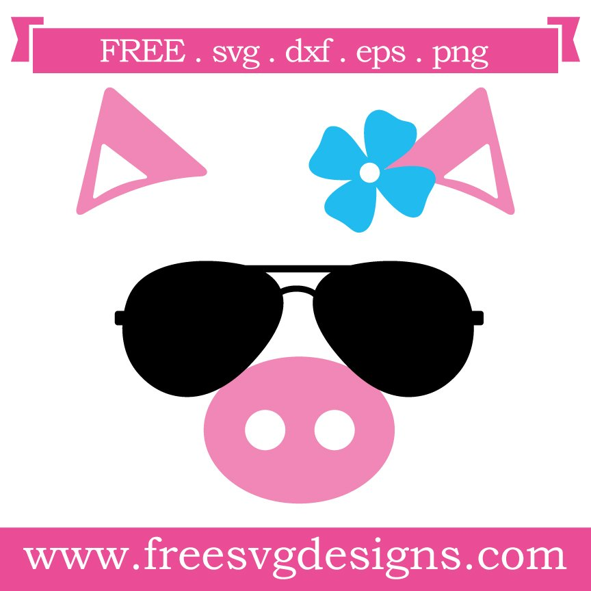 Free pig cut files at www.freesvgdesigns.com. FREE downloads includes SVG, EPS, PNG and DXF files for personal cutting projects. Free vector / printable / free svg images for cricut