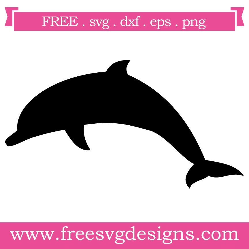 Free dolphin silhouette cut files at www.freesvgdesigns.com. FREE downloads includes SVG, EPS, PNG and DXF files for personal cutting projects. Free vector / printable / free svg images for cricut