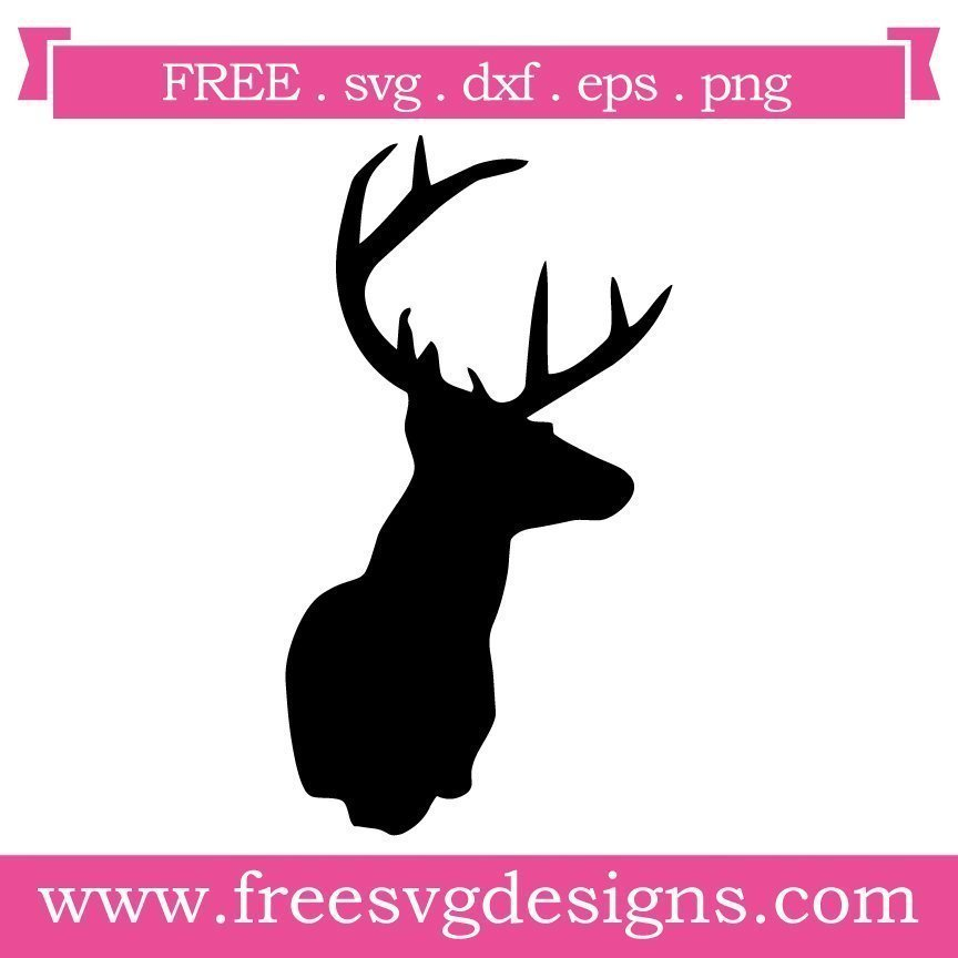 Free reindeer silhouette cut files at www.freesvgdesigns.com. FREE downloads includes SVG, EPS, PNG and DXF files for personal cutting projects. Free vector / printable / free svg images for cricut