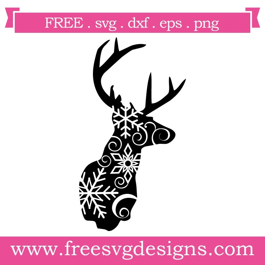 Free Reindeer cut files at www.freesvgdesigns.com. FREE downloads includes SVG, EPS, PNG and DXF files for personal cutting projects. Free vector / printable / free svg images for cricut