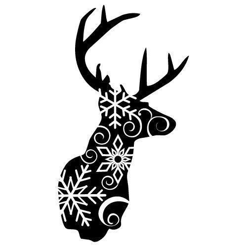Reindeer with Snowflakes 466