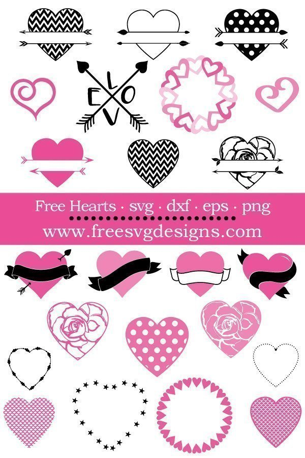 Free heart cut files at www.freesvgdesigns.com. FREE downloads includes SVG, EPS, PNG and DXF files for personal cutting projects. Free vector / printable / free svg images for cricut