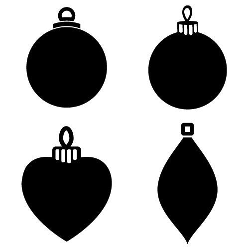 Bauble Silhouettes 478