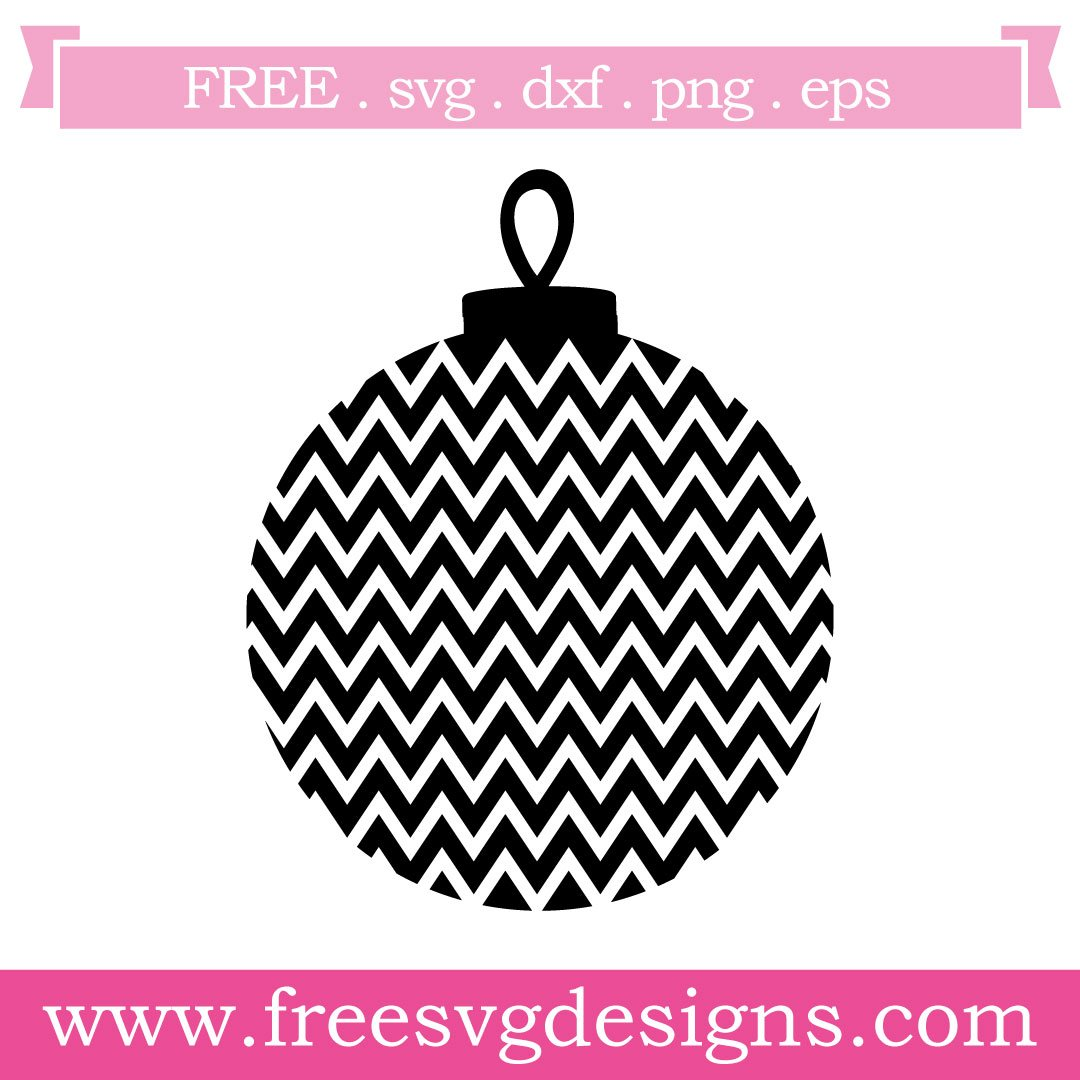 Free Chrsitmas bauble cut files at www.freesvgdesigns.com. FREE downloads includes SVG, EPS, PNG and DXF files for personal cutting projects. Free vector / printable / free svg images for cricut