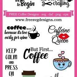 Coffee SVG designs