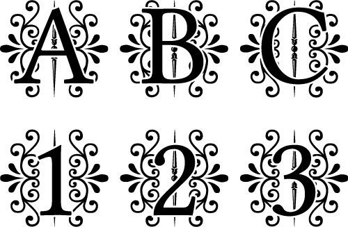 Free Monogram Fonts Free Downloads For Your Cutting Projects