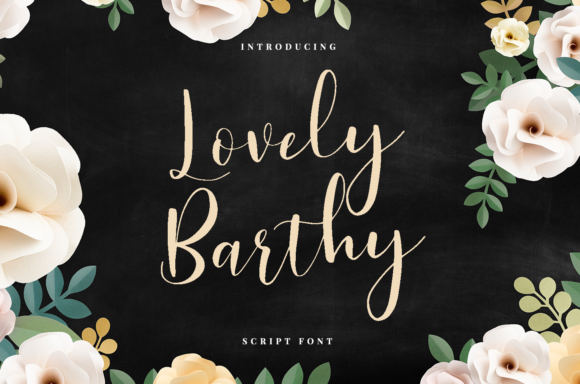 Lovely Barthy Calligraphy Font
