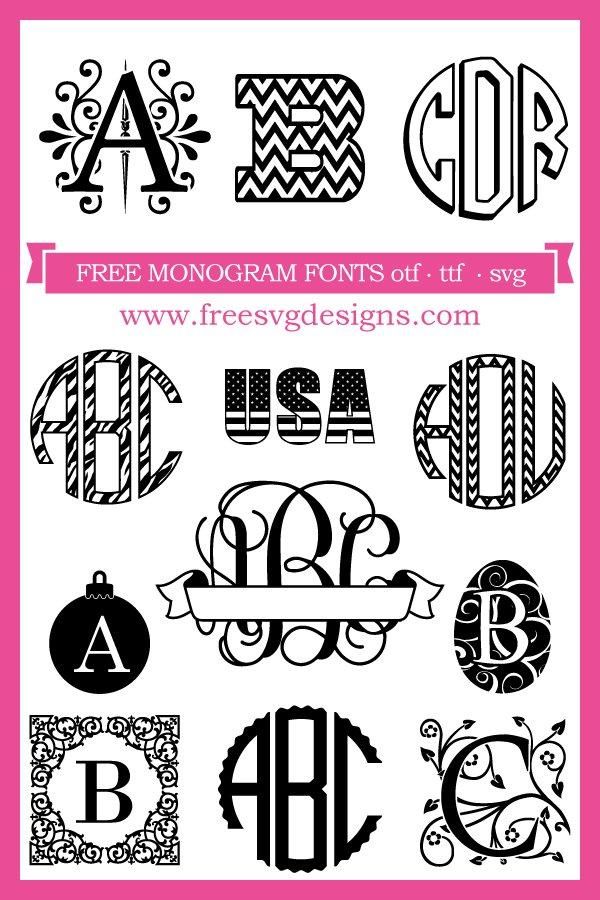 Free Monogram Fonts