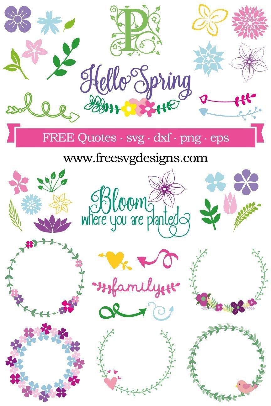 Spring Free Svg Designs