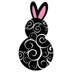 Easter Bunny Swirls 634