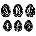 Easter's Here Monogram Font 658