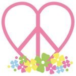Floral Peace Love Heart 669