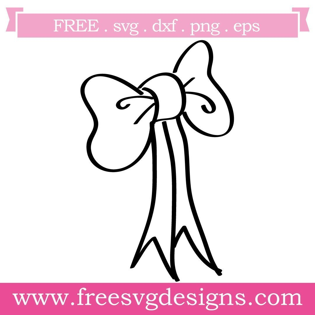 Free SVG Bow Silhouette cut files at www.freesvgdesigns.com. Our FREE downloads includes OTF, TTF, SVG, PNG and DXF files for personal cutting projects. Free vector / printable / free svg images for cricut #freesvg #diycrafts #svg #cricut #silhouettecameo #svgfile #silhouette #bow